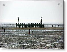 St. Annes. On The Beach. Acrylic Print