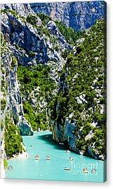 St Croix Lake, Les Gorges Du Verdon Acrylic Print
