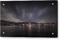 St Ives Cornwall - Dramatic Sky Acrylic Print