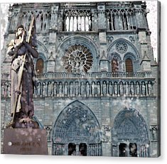 St Joan Of Arc Watch Over Notre Dame Acrylic Print