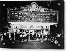 St Louis Cinemaplex, Circa 1930 Acrylic Print