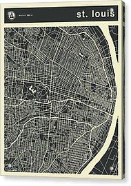 St Louis Map 3 Acrylic Print