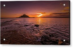 St Michael's Mount - January Sunset Acrylic Print