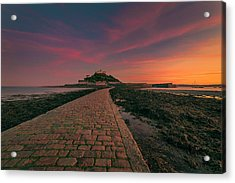 St Michael's Mount Sunset Acrylic Print