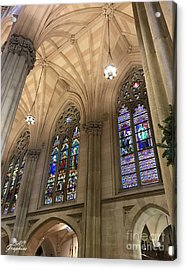 St Patricks Stained Glass Acrylic Print