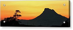 Acrylic Print featuring the photograph Stac Polly Mountain Sunset by Grant Glendinning