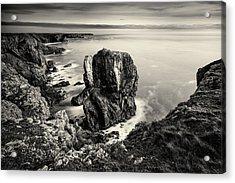 Stack Rocks - Black And White Acrylic Print