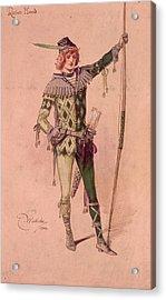 Stage Costume Acrylic Print by C. Wilhelm
