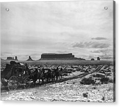 Stagecoach Acrylic Print by Hulton Archive