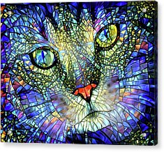 Stained Glass Cat Art Acrylic Print