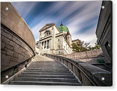 Acrylic Print featuring the photograph Stairway To St Joseph Oratory by Pierre Leclerc Photography