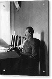 Stalin Acrylic Print by James Abbe