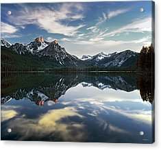 Stanley Lake Acrylic Print by Leland D Howard