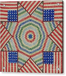 Star And Flag Quilt Design Acrylic Print