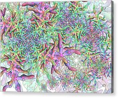 Acrylic Print featuring the digital art Star Remix Two by Vitaly Mishurovsky