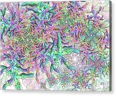 Acrylic Print featuring the digital art Star Remix by Vitaly Mishurovsky