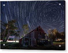 Star Trails Over Bonetti Ranch Acrylic Print