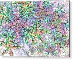 Acrylic Print featuring the digital art Star by Vitaly Mishurovsky