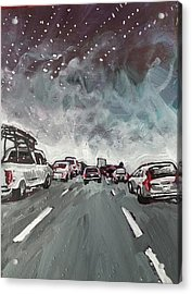 Starry Night Traffic Acrylic Print
