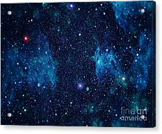 Starry Outer Space Background Texture Acrylic Print by Zakharchuk