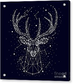 Starry Sky, Constellation, Deer Acrylic Print