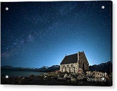 Stars And Midnight Blue Acrylic Print