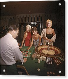 Stars At The Roulette Table Acrylic Print