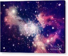 Stars Of A Planet And Galaxy In A Free Acrylic Print