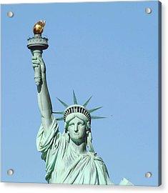 Statue Of Liberty Against Clear Sky Acrylic Print by Valentina Bielli / Eyeem