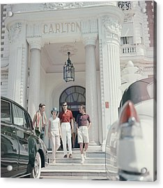 Staying At The Carlton Acrylic Print by Slim Aarons