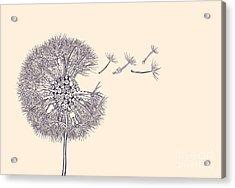 Steampunk Dandelion Acrylic Print