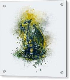 Steampunk Dragon Acrylic Print