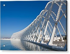 Steel Archway At Stadium In Greece Acrylic Print