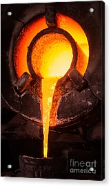 Steel Worker In Protective Clothing Acrylic Print
