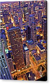 Stepping Over The Ledge Acrylic Print