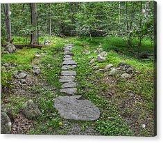 Stepping Stone Path - Kinnelon Acrylic Print