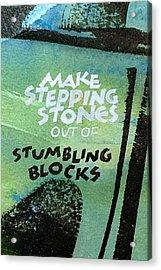 Stepping Stones Acrylic Print