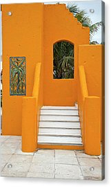 Steps, Patterns, Colors Of The Acrylic Print by Barry Winiker