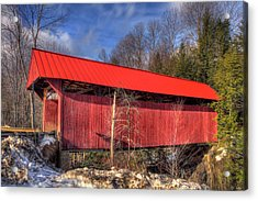 Acrylic Print featuring the photograph Sterling Covered Bridge - Stowe, Vt by Joann Vitali