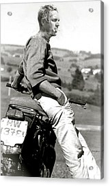 Steve Mcqueen, The Great Escape, The King Of Cool Acrylic Print