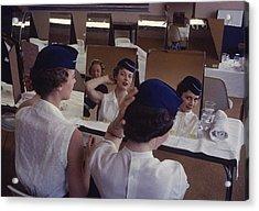 Stewardesses In Training Look Into Acrylic Print