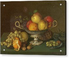Still Life With Fruit, 1844 Acrylic Print