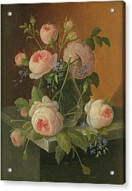 Still Life With Roses, Circa 1860 Acrylic Print