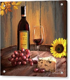 Still Life With Wine Acrylic Print