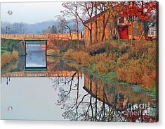 Still Waters On The Canal Acrylic Print