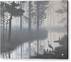 Acrylic Print featuring the painting Still Waters by Peter Mathios