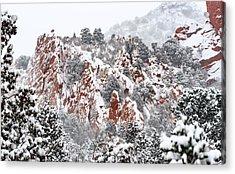 Stillness Of A Snow Covered Morning Acrylic Print