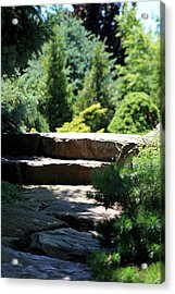 Stone Stairs In Chicago Botanical Gardens Acrylic Print