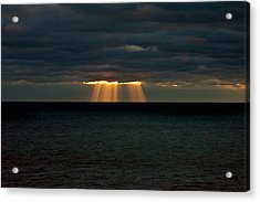 Storm Brewing Acrylic Print by By Ken Ilio