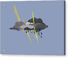 Storm Clouds, Lightning And Rain Acrylic Print by Fstop Images - Jutta Kuss